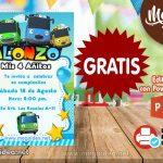 Invitación de Tayo Bus GRATIS para editar
