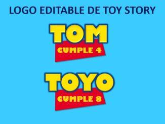 Logo Editable Toy Story