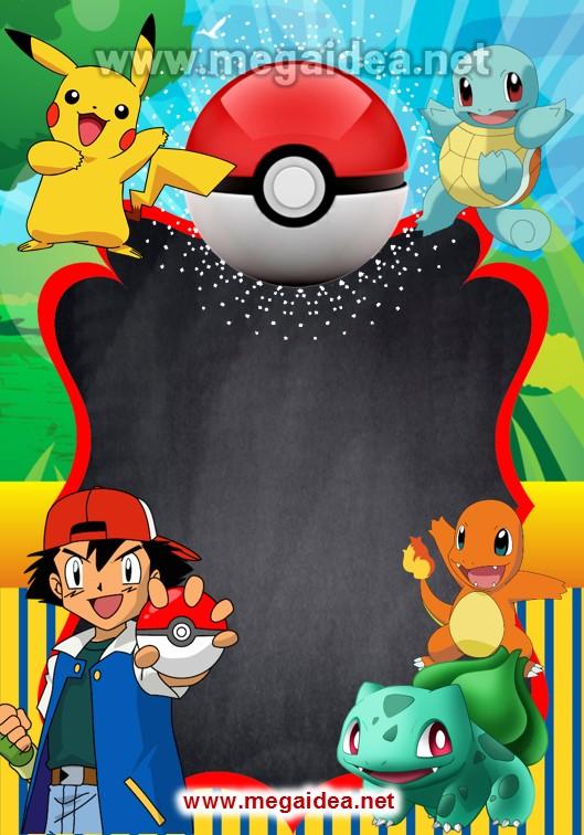fondo Invitacion Pokemon 02