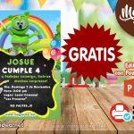 Invitación de Osito Gominola GRATIS para editar