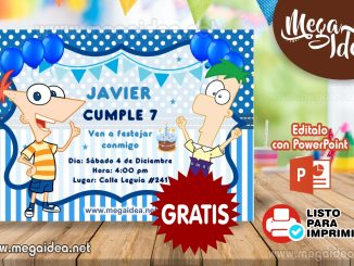 invitacion Phineas y Ferb
