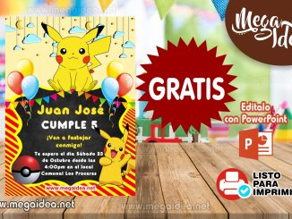 invitacion Pikachu