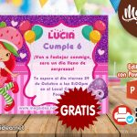Invitación de Rosita Fresita GRATIS para editar
