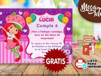invitacion Rosita Fresita