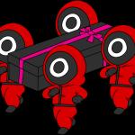 squid game soldados bailando