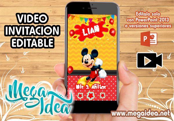 video invitacion mickey mouse editable
